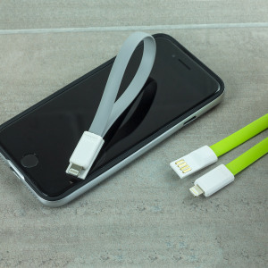 This twin pack of grey and green 22cm high performance magnetic data cables provides simultaneous synchronisation and charging for all Apple Lightning devices. The connectors clip together magnetically when not in use - ideal for storage and portability.