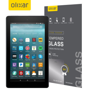 This ultra-thin tempered glass screen protector for the Amazon Fire HD 8 2017 from Olixar offers toughness, high visibility and sensitivity all in one package. Perfect for interaction without the risk of damaging your screen.