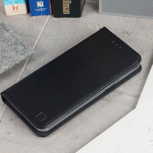 A premium slimline black genuine leather case. The Olixar genuine leather executive wallet case offers perfect protection for your Sony Xperia XZ Premium, as well as featuring a smart magnetic media stand slots for your cards, cash and documents.