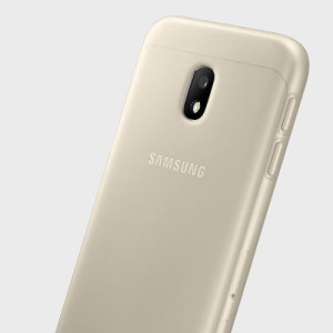 Slim-fitting and adding virtually no extra bulk, this official Samsung gold jelly case for the Galaxy J3 2017 offers protection without sacrificing form.