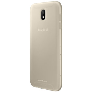 Slim-fitting and adding virtually no extra bulk, this official Samsung gold jelly case for the Galaxy J5 2017 offers protection without sacrificing form.