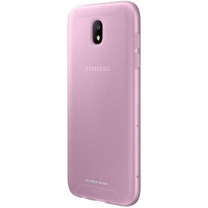 Eng-passend fügt es praktisch keine extra Masse hinzu, diese offizielle Samsung rosa jelly Hülle für das Galaxy J5 2017 bietet Schutz ohne die Form einzubußen.