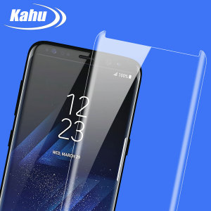 Keep your Samsung Galaxy S8's screen safe with this 100% clear Tempered Glass screen protector, designed to cover and protect even the curved edges of the phone's screen. This design allows for the use of cases too.