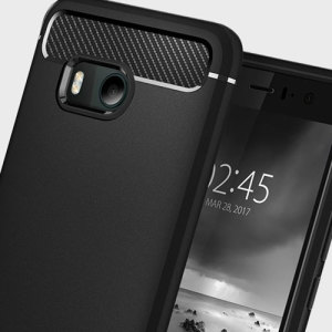 Meet the newly designed rugged armor case for the HTC U11. Made from flexible, rugged TPU and featuring a mechanical design, including a carbon fibre texture, the rugged armor tough case in black keeps your phone safe and slim.