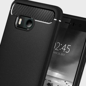 Treffen Sie die neu gestaltete robuste Hülle für das HTC U11 aus flexiblen, robusten TPU und mit einer mechanischen Konstruktion, einschließlich einer Kohlenstofffaserbeschaffenheit, die Ihr Handy sicher und schlank hält bon Spigen.