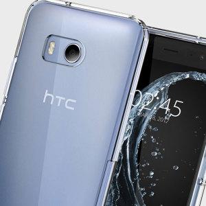 Robuste und leiche Schutzhülle für das HTC U11 von Spigen. Die Hülle hat die perfekte Passform zum Schutz des HTC U11.