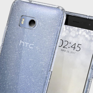 Duradera y muy ligera, la funda Spigen Liquid Crystal Glitter para el HTC U11 ofrece una protección premium en un formato muy delgado.