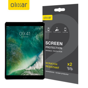 Keep your iPad Pro 10.5's screen in pristine condition with this Olixar scratch-resistant screen protector 2-in-1 pack. Ultra responsive and easy to apply, these screen protectors are the ideal way to keep your display looking brand new.