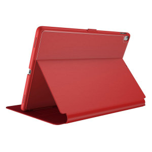 "Provide sophisticated and elegant protection for your Apple iPad Pro 10.5 with the StyleFolio case in a stylish ""Dark Poppy / Velvet Red"" design from Speck. Complete with a multi-angle viewing stand and secure closure system."