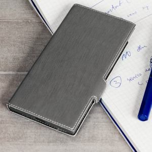 All the benefits of a wallet case but far more streamlined. The Low Profile in grey is the perfect partner for the the Sony Xperia XZ Premium owner on the move. What's more, this case transforms into a handy stand to view media.