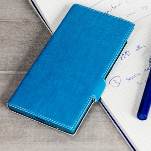 All the benefits of a wallet case but far more streamlined. The Low Profile in blue is the perfect partner for the the Sony Xperia XZ Premium owner on the move. What's more, this case transforms into a handy stand to view media.