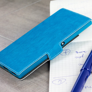 All the benefits of a wallet case but far more streamlined. The Low Profile in blue is the perfect partner for the the Sony Xperia XA1 owner on the move. What's more, this case transforms into a handy stand to view media.