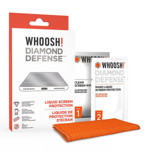 Using liquid nanotechnology to protect your smartphone - the Whoosh! Diamond Defense Liquid Screen Protection provides invisible scratch resistance for your device's screen without any tricky film or glass installation.
