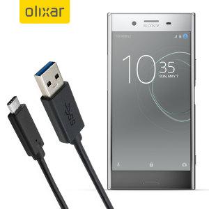 Asegúrese de tener siempre cargado y sincronizado su Sony Xperia XZ Premium gracias a este cable USB-C fabricado por Olixar.