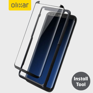 Keep your Samsung Galaxy S8's screen in pristine condition with this Olixar Tempered Glass screen protector, designed for full coverage of your phone's screen. This design leaves space for a case and comes with an install tool for perfect alignment.