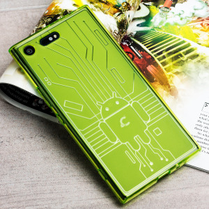 Keep your Sony Xperia XZ Premium protected from damage with this Android-circuitry inspired, durable clear TPU case in green by Cruzerlite.