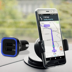 Essential items you need for your smartphone during a car journey all within the Olixar DriveTime In-Car Pack. Featuring a robust one-handed phone car mount and car charger with an additional USB port for your HTC U11.