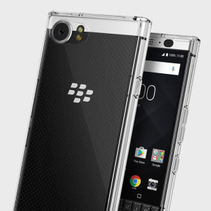 Protect the back and sides of your sleek BlackBerry KEYone with this incredibly durable clear backed Fusion Case by Ringke.