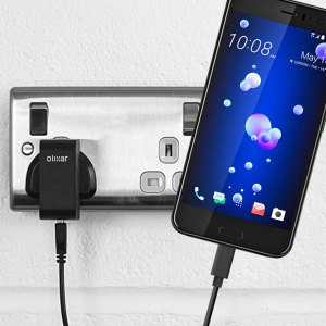 Charge your HTC U11 and any other USB device quickly and conveniently with this compatible 2.4A high power USB-C UK charging kit. Featuring a UK wall adapter and USB-C cable.