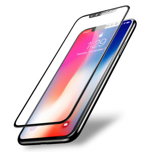 This 2 pack of ultra-thin full cover curved tempered glass screen protectors for the iPhone X from Olixar offers toughness, high visibility and sensitivity all in one package. Features complete edge to edge screen protection for black phones.
