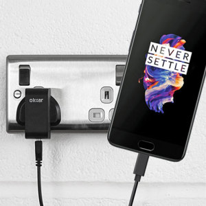 Charge your OnePlus 5 and any other USB device quickly and conveniently with this compatible 2.5A high power USB-C UK charging kit. Featuring a UK wall adapter and USB-C cable.