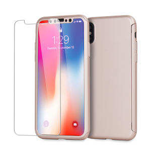 Full front, back and screen protection is as easy as 1-2-3 with the Olixar XTrio in rose gold. With a slimline shell for the back and front that clips together seamlessly - and a glass screen protector, your iPhone X is fully encased and safe.