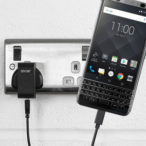 Charge your BlackBerry KEYone and any other USB device quickly and conveniently with this compatible 2.5A high power USB-C UK charging kit. Featuring a UK wall adapter and USB-C cable.