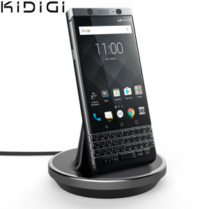 Synchronise and charge your BlackBerry KEYone with this stylish and case compatible desktop dock which also acts as a multimedia stand. Supports USB-C (USB Type-C).