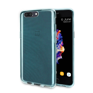 Custom moulded for the OnePlus 5, this blue FlexiShield case provides a slim fitting and durable protection against damage, with an alluring jet black appearance.