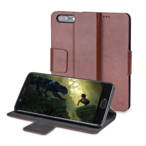 The Olixar leather-style OnePlus 5 Wallet Case in brown attaches to the back of your phone to provide superb enclosed protection and can also be used to hold your credit cards. So you can leave your other wallet home as this case has it all covered.