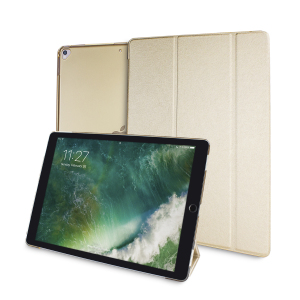Protect your iPad Pro 12.9 inch 2017 with this supremely functional transparent and gold case with viewing stand feature. Also features smart sleep / wake functionality.