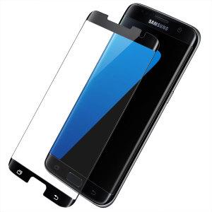 Préservez l'écran de votre Samsung Galaxy S7 Edge dans un état impeccable à l'aide de le protection d'écran en verre trempé Olixar. Conçue pour couvrir l'intégralité de l'écran ainsi que les bords incurvés de votre smartphone, sa conception est également compatible avec une majorité de coques.
