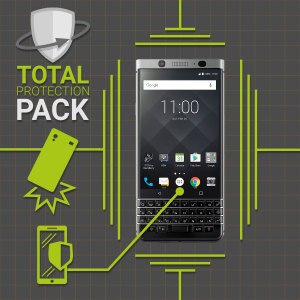 Guard your beautiful BlackBerry KEYone from damage with the Olixar Total Protection Pack. Featuring a slim polycarbonate case and an ultra-response glass screen protector, this pack provides the ultimate in lightweight protection.