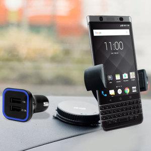 Houd je telefoon veilig in je auto met deze volledig verstelbare DriveTime-autohouder voor je BlackBerry KEYone.