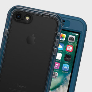 Experience the freedom to surf, sing in the shower, ski, snowboard, work on construction sites and have true iPhone 7 use anywhere you go with the LifeProof Nuud tough case in midnight indigo blue.