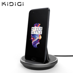 Synchronise and charge your OnePlus 5 with this stylish and case compatible desktop dock which also acts as a multimedia stand. Supports USB-C (USB Type-C).