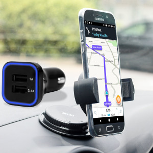 Hold your phone safely in your car with this fully adjustable DriveTime car holder for your Samsung Galaxy A7 2017.