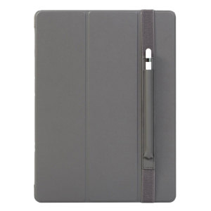 The Smart Cover just got smarter! Built-in magnets draw this grey Smart Case to the iPad Pro 12.9 2017 for a perfect fit that not only protects, but also wakes up, stands up and brightens up your iPad. Also featuring an integrated Apple Pencil holder.