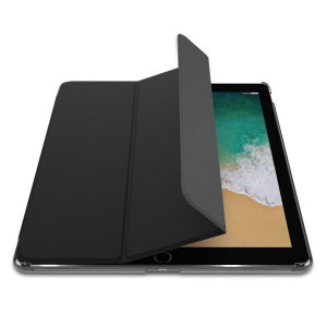 The Smart Cover just got smarter! Built-in magnets draw this black Smart Case to the iPad Pro 12.9 2017 for a perfect fit that not only protects, but also wakes up, stands up and brightens up your iPad. Also featuring an integrated Apple Pencil holder.