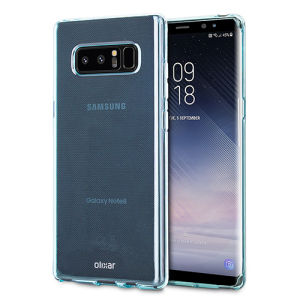 Custom moulded for the Samsung Galaxy Note 8. This blue Olixar FlexiShield case provides a slim fitting stylish design and durable protection against damage, keeping your device looking great at all times.