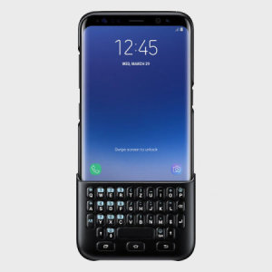 Experience fast and efficient typing with the slim and protective official black QWERTZ keyboard cover from Samsung for the Galaxy S8 Plus. With no Bluetooth connection or power required, the keyboard case won't drain your battery or need charging.