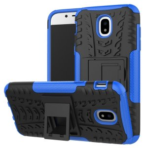 Protect your Samsung Galaxy J5 2017 from bumps and scrapes with this blue Olixar ArmourDillo case. Comprised of an inner TPU case and an outer impact-resistant exoskeleton, with a built-in viewing stand.