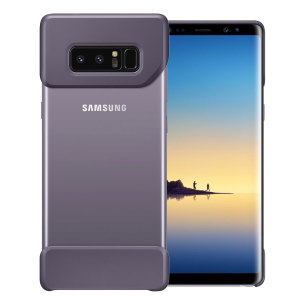 The official Pop Cover case for Samsung Galaxy Note 8 in orchid grey consists of two ergonomic, easy-to-attach geometric shapes which bookend your Galaxy Note 8, adding a unique style and offering superior drop protection.