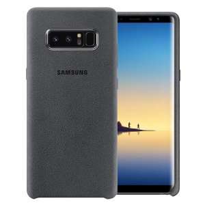 Protect your Samsung Galaxy Note 8 with this Official Alcantara case in dark grey. Stylish and protective, this case is the perfect accessory for your Note 8.
