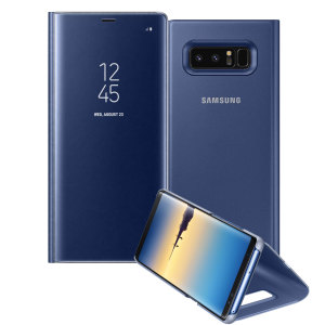 This Official Samsung Clear View Cover in deep blue is the perfect way to keep your Galaxy Note 8 smartphone protected whilst keeping yourself updated with your notifications thanks to the clear view front cover.