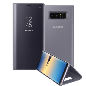 This Official Samsung Clear View Cover in orchid grey is the perfect way to keep your Galaxy Note 8 smartphone protected whilst keeping yourself updated with your notifications thanks to the clear view front cover.