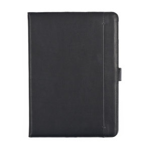 Protect your iPad Pro 10.5 with this fantastic black leather-style stand case. The frame folds out to become a media viewing stand, perfect for streaming videos or gaming. This case also includes an impressive 5 card slots and 2 large document pockets.