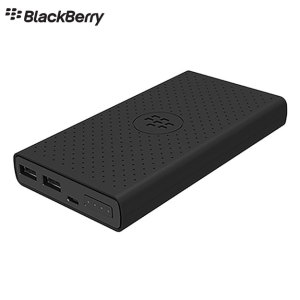 This BlackBerry power bank in black can accommodate any device with USB charging thanks to 2x standard USB ports. With a whopping 12,600mAh of power and impressive charging speeds, this power bank will keep you topped up all day long.