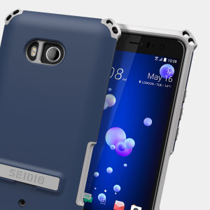 Protect your HTC U11 with this midnight blue / grey Dilex case from Seidio. This case provides shock absorbing protection with two interlocking layers and includes an integrated kickstand for easy media viewing.