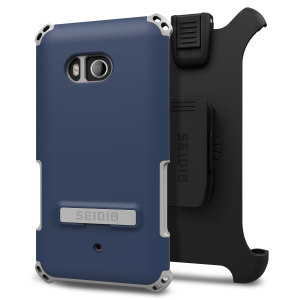 Protect your HTC U11 with this midnight blue / grey Dilex Case from Seidio. This case provides shock absorbing protection with two interlocking layers and includes an integrated kickstand and belt-clip holster.